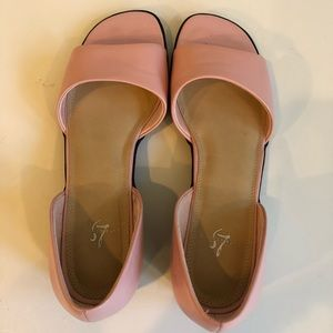 Life Stride Shoes - Lifestride d'Orsay Open Toe Pink Leather Flat